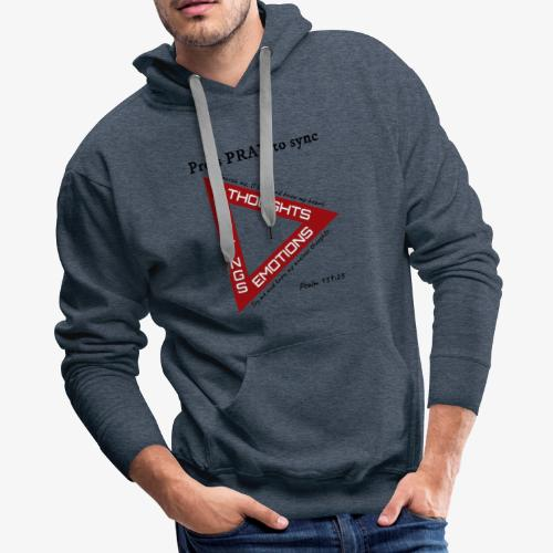 Press PRAY to Sync - Men's Premium Hoodie