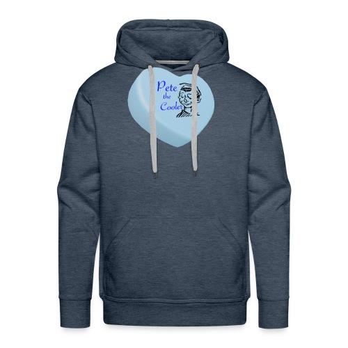 Pete the Cooler Candy Heart - blue - Men's Premium Hoodie