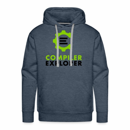 Logo and text - Men's Premium Hoodie