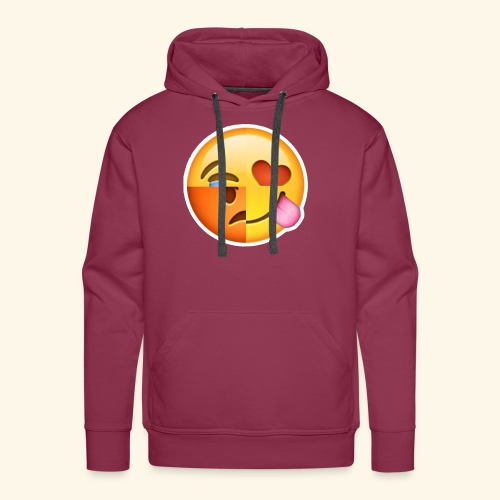 E Tees , Unique , Love , Cry, angry - Men's Premium Hoodie