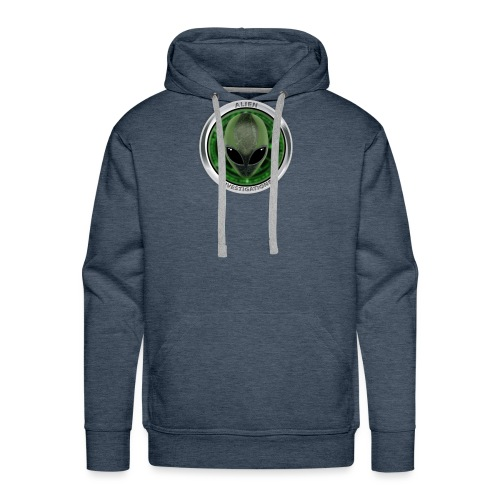 New Alien Investigations Head Logo - Men's Premium Hoodie
