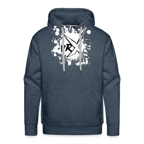 VRX White Paint logo - Men's Premium Hoodie