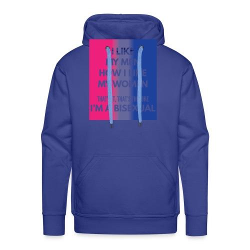 Bisexual - Bi - LGBT - Gay Pride - Gift - Men's Premium Hoodie