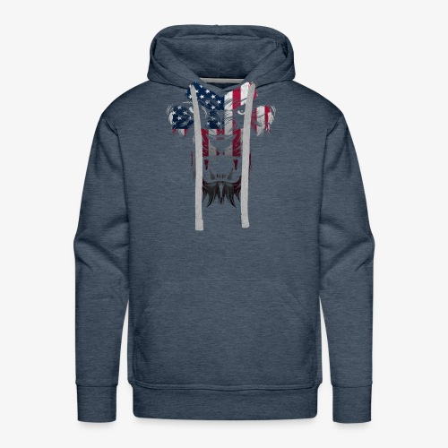 American Flag Lion Shirt - Men's Premium Hoodie