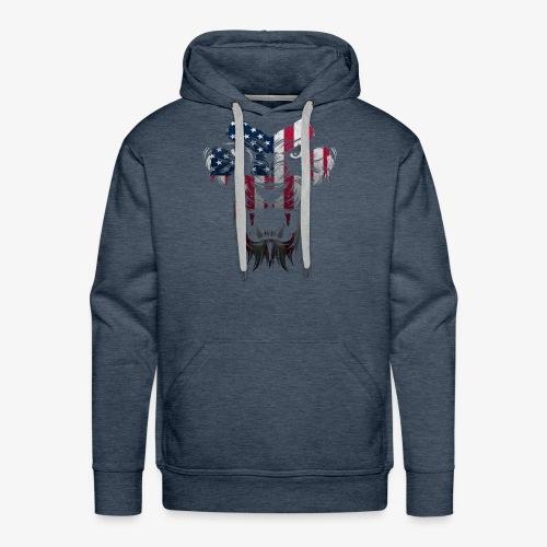 American Flag Lion Shirt - Men's Premium Hoodie