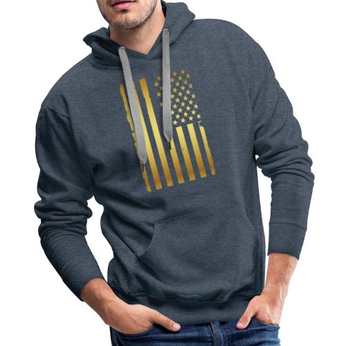 Golden american flag - Men's Premium Hoodie