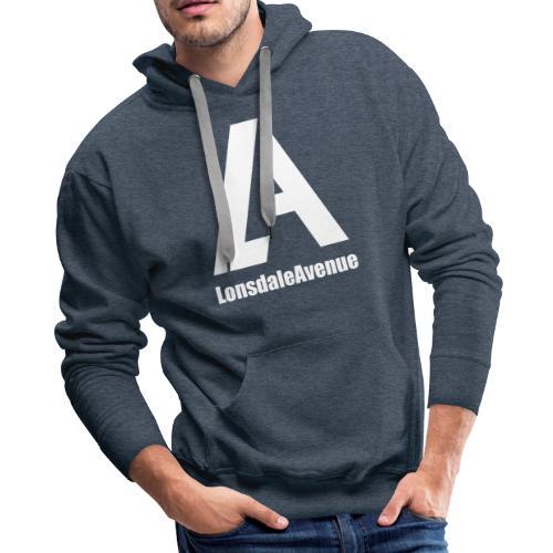 Lonsdale Avenue Logo White Text - Men's Premium Hoodie