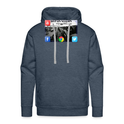 gym no pain no gain 1 - Men's Premium Hoodie