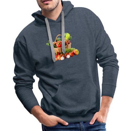 Vegetable transparent - Men's Premium Hoodie