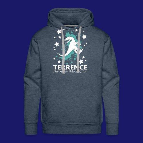 Terrence the Space Velociraptor - Men's Premium Hoodie