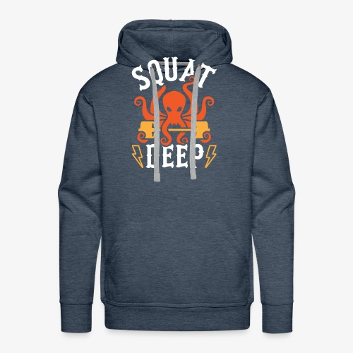 Squat Deep Kraken - Men's Premium Hoodie