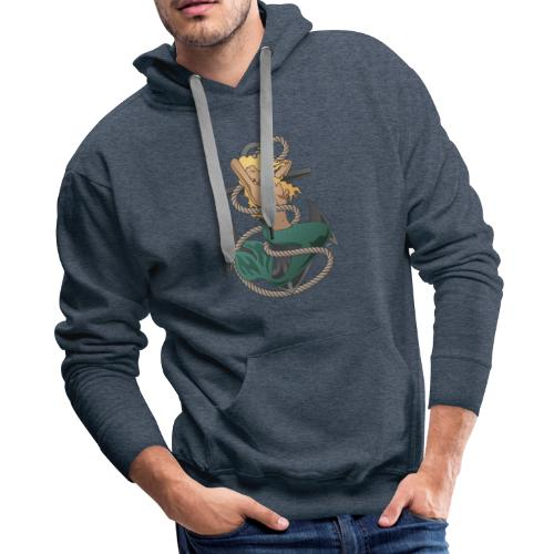 Mermaid with anchor and rope - Men's Premium Hoodie