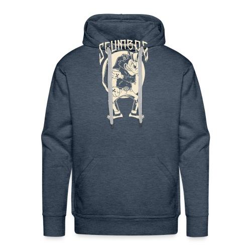 The wolf will hit you - Men's Premium Hoodie