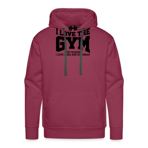 I love the gym - Men's Premium Hoodie