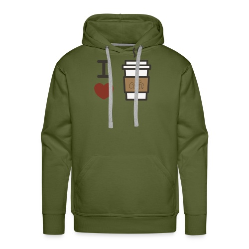 I Love Coffee - Men's Premium Hoodie