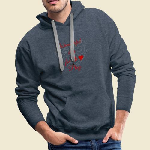 108-lSa Inspi-Shirt-85.b ... for OM-Love Play - Men's Premium Hoodie