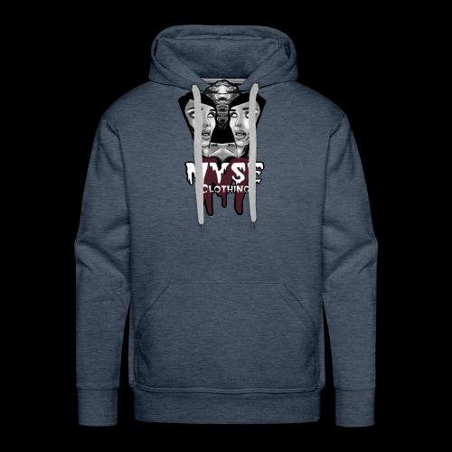 Myse clothing logo with vampire - Men's Premium Hoodie