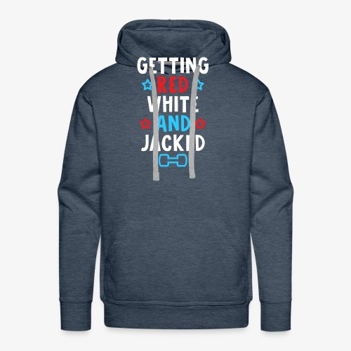 Getting Red, White And Jacked - Men's Premium Hoodie