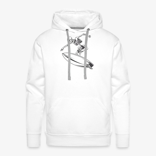 Surfing Skeleton 4 - Men's Premium Hoodie