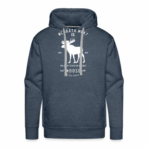 McGrath Meat Company White Stamp Logo - Men's Premium Hoodie