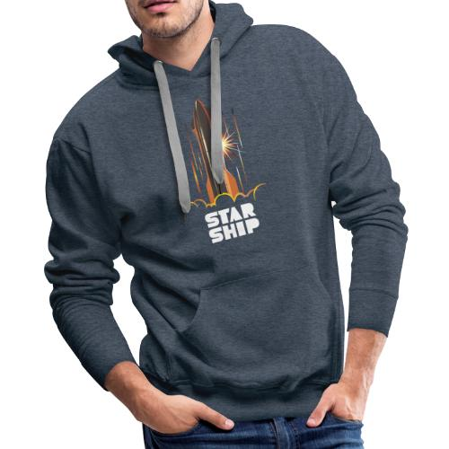 Star Ship Mars - Dark - Men's Premium Hoodie