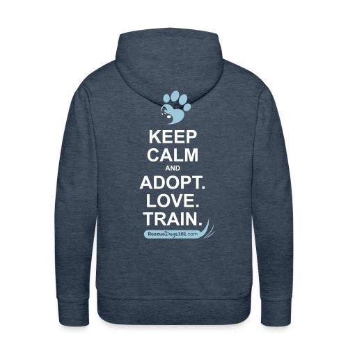 RescueDogs101 Keep Calm - Men's Premium Hoodie