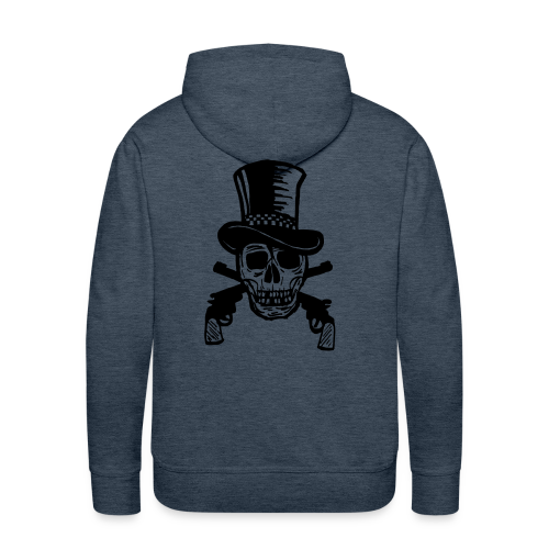 The Gunfighter Skull - Men's Premium Hoodie