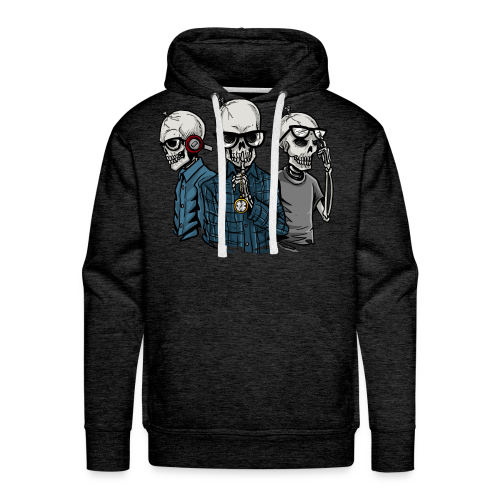 3x No Evil - Men's Premium Hoodie