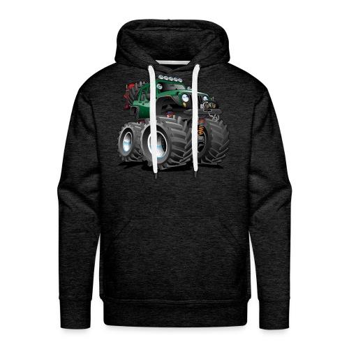 Off road 4x4 green jeeper cartoon - Men's Premium Hoodie
