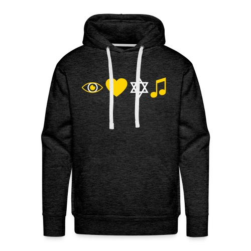 I Love Jewish Music - Men's Premium Hoodie