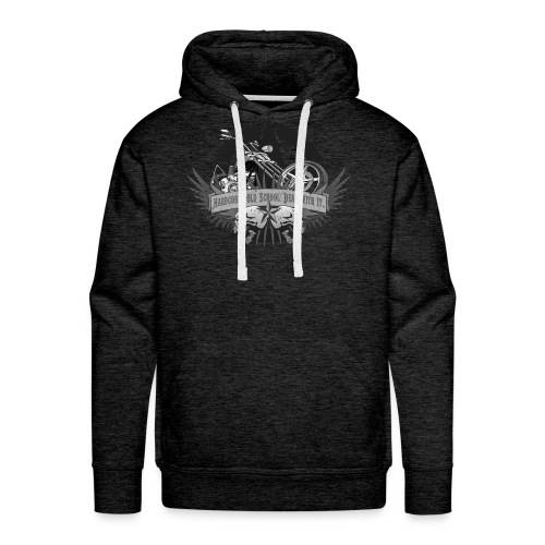 Hardcore. Old School. Deal With It. - Men's Premium Hoodie