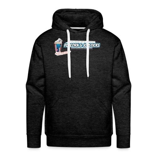 Popcorn and Joysticks Banner - Men's Premium Hoodie