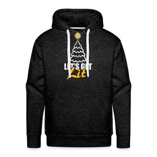 Lets Get Lit Christmas Funny Christmas Gift - Men's Premium Hoodie