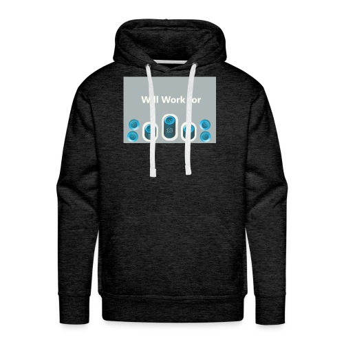Will_work_for_buttons - Men's Premium Hoodie
