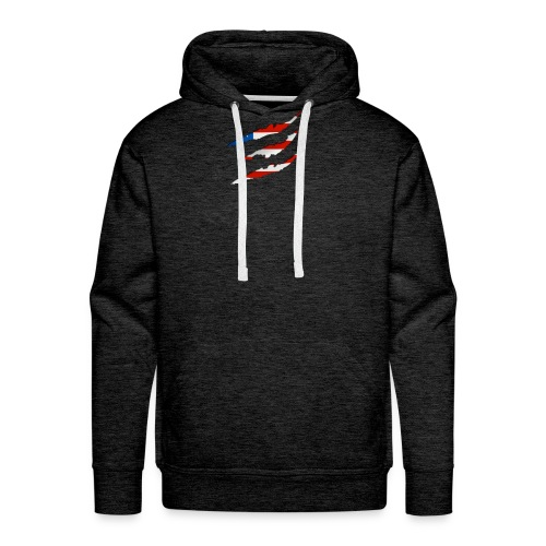 3D American Flag Claw Marks T-shirt for Men - Men's Premium Hoodie