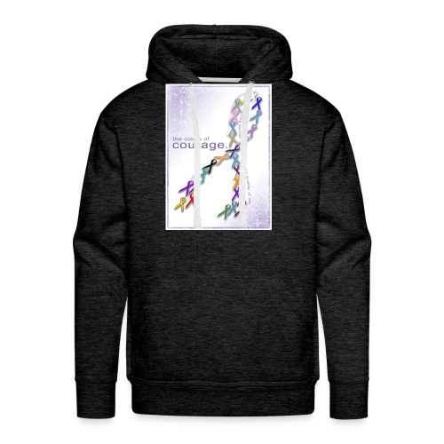 The Colors of Courage Cancer Awareness Ribbons - Men's Premium Hoodie