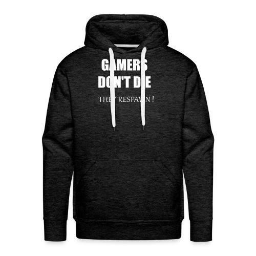GAMERS DON'T DIE - Men's Premium Hoodie