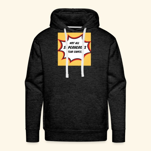 superhero no cape - Men's Premium Hoodie