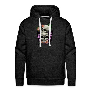 BUTTERFLY SKULLS WITH PLUMERIA - Men's Premium Hoodie