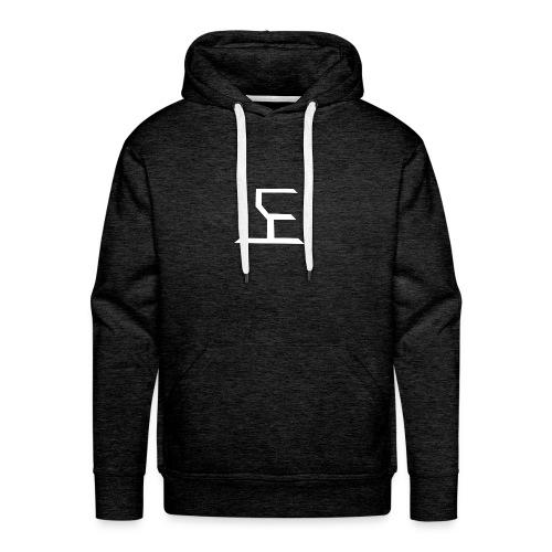 white SaKe logo - Men's Premium Hoodie