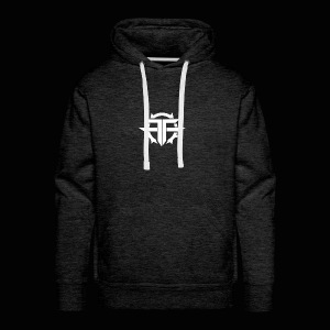 Black and white Official Text Hoodie/T Shirt - Men's Premium Hoodie