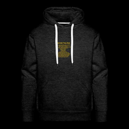 tshirt_pilotVersion_nologo_gold - Men's Premium Hoodie