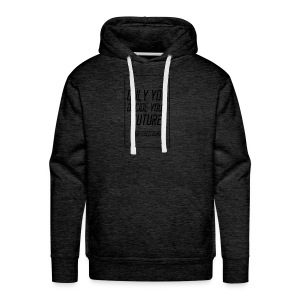 Only you decide your future White - Men's Premium Hoodie