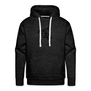 Lost in Life Black on Light - Men's Premium Hoodie