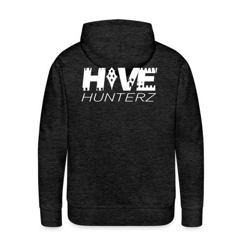 White Hive Hunterz Logo - Men's Premium Hoodie