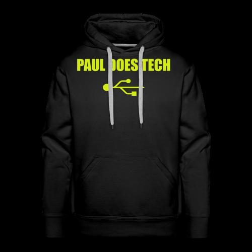 Paul Does Tech Yellow Logo With USB (MERCH) - Men's Premium Hoodie