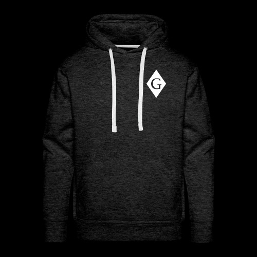 Glenester Black on White Diamond - Men's Premium Hoodie