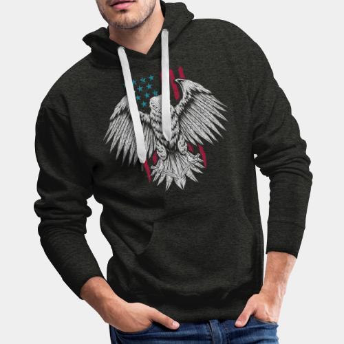 usa eagle american - Men's Premium Hoodie