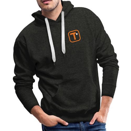 Orange Transparent Logo (Bare) - Men's Premium Hoodie