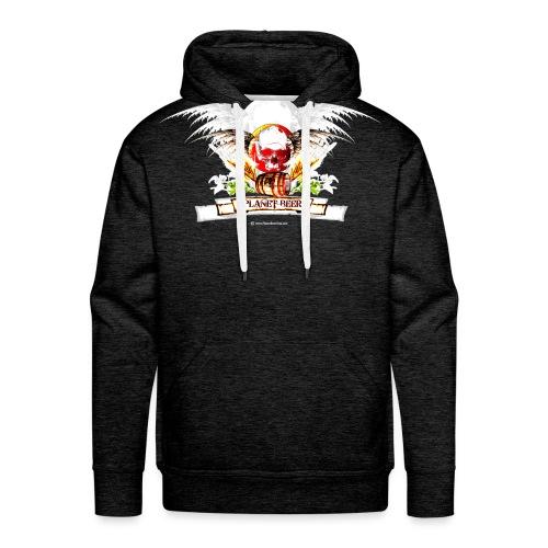 Planet Beer Skull & Keg Gothic 2 Tone - Men's Premium Hoodie